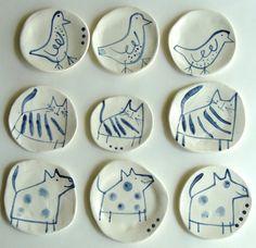 carnetimaginaire:    Anthea Carboni, Animal Plates