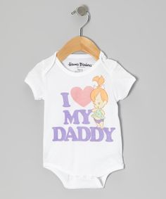 White 'I Love My Daddy' Pebbles Bodysuit - Infant | Daily deals for moms, babies and kids