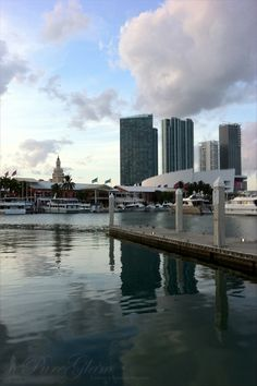 Miami, FL - Bayside - right part of the pic famous American Airlines Arena...