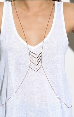 Canyon Lands Body Chain by AK Vintage Jewelry Accessories, Fashion Accessories, Jewelry Design, Fashion Jewelry, Style Fashion, Body Chain Jewelry, Body Jewellery, Chain Necklaces, Body Necklace