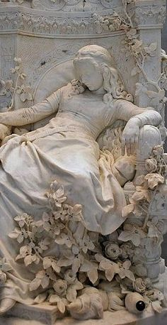 followthewestwind:  Sleeping Beauty, 1878 ~ Ludwig Sussmann Hellborn (German sculptor, painter, 1828-1908) (via Pin by Acanthus Hardware &am...