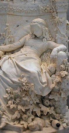 followthewestwind:  Sleeping Beauty, 1878 ~ Ludwig Sussmann Hellborn (German sculptor, painter, 1828-1908) (via Pin by Acanthus Hardware &am...