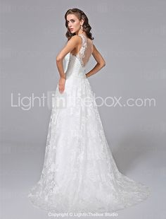 a6504734b76 Lanting Bride® A-line Plus Sizes Wedding Dress - Elegant  amp  Luxurious  Spring