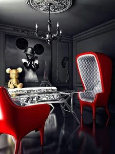 39 ideas pop art interior architecture spaces for 2019 Luxury Furniture, Furniture Design, Casa Pop, Pop Art Design, Space Architecture, Classic Interior, Interiores Design, Feng Shui, Interior Decorating