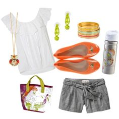Summer Summer Summer Orange Shoes Beach Outfit Simple Style High Fashion