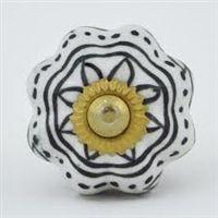 black & white ceramic knob $5.99 @ relovedliving.com