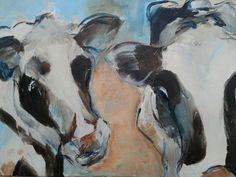 Koeien, acryl Diana Mol