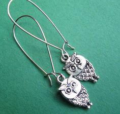 WISE OLD OWLS earrings on French wires. $7.00