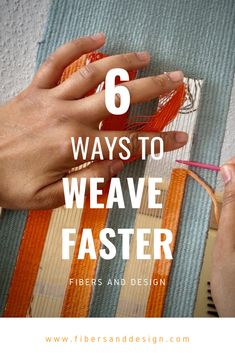 Learn 6 weaving techniques for weaving faster!You can find Hand weaving and more on our website.Learn 6 weaving techniques for weaving faster! Weaving Loom Diy, Weaving Art, Tapestry Weaving, Hand Weaving, Yarn Crafts, Fabric Crafts, Sewing Crafts, Weaving Textiles, Weaving Patterns