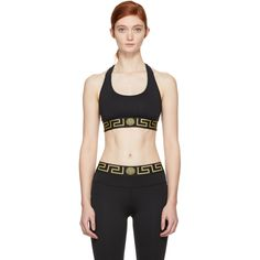 035de5eb67 Versace Underwear - Black Greek Key Sports Bra