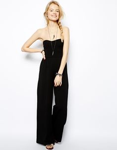 Find the best selection of ASOS PETITE Bandeau Jumpsuit with Wide Leg. Shop today with free delivery and returns (Ts&Cs apply) with ASOS! Postpartum Fashion, Lux Fashion, Asos Petite, Petite Tops, Traditional Fashion, Petite Dresses, Overall, Material Girls, Style