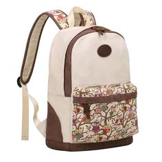Amazon.com: TinoTrade Cute Owl Print Canvas School Backpack For Teens Girls: Clothing