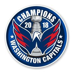 c5bea2253 Details about Washington Capitals 2018 Stanley Cup Champions Round Decal    Sticker Die cut (B)