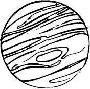 Jupiter  Dibujo para colorear