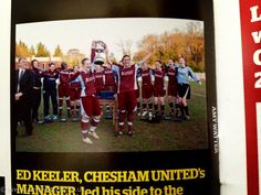 Chesham United Ladies winning the League in She Kicks Magazine (although they spelt my name wrong!)