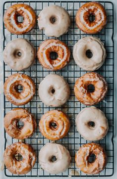 Sour Cream Cake Donuts with Maple Brown Butter Glaze - The Sweet and Simple Kitchen Sour Cream Donut, Sour Cream Cake, Butter Toffee, Brown Butter, Homemade Donuts, Homemade Cakes, Caramel Apple Cheesecake, Caramel Apples, Pecan Cobbler