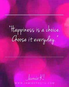 totally!!! consciously choosing.