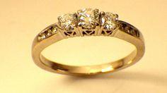 Beautiful 3 Diamond Engagement Ring  51 carats by My3LadiesJewelry, $549.99