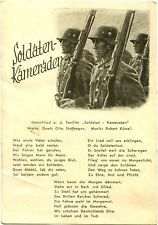 Germany Empire WW2 postcard Wehrmacht military troops WWII rare NS card PC 1941