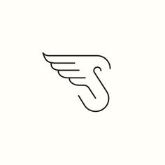 S / Wing Logo. (Available) by Richard Baird. #logo #branding