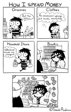 """""""How I Spend Money,"""" a Sarah's Scribbles comic by Sarah Andersen"""
