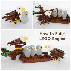 Love this post? Then pass it on! Lego Projects, Projects For Kids, Crafts For Kids, Fun Crafts, Lego Design, Lego Zoo, Eagle Craft, Lego Craft, Minecraft Crafts