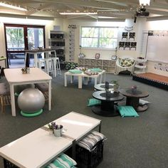 FLexible seating for the future--Who else thinks there should be a classroom edition HGTV show? 🙋‍♀️🙋‍♀️ I am obsessed with pretty set ups like this super stylish one from… High School Classroom, Special Education Classroom, Classroom Design, Future Classroom, Classroom Themes, Classroom Organization, Art Classroom Layout, Classroom Color Scheme, Year 1 Classroom