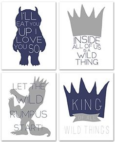 Where the Wild Things Are, King Of All Wild Things, Set o...