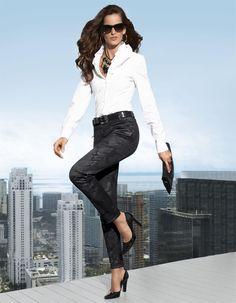 Hose in der Farbe schwarz / grau - schwarz, grau - im Madeleine Mode Onlineshop