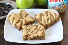 Peanut Butter Apple Bars | Peanut Butter Bar Recipe | Two Peas & Their Pod