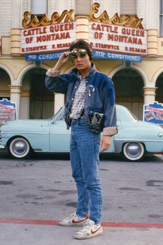 Michael J. Fox as Marty McFly in Back to the Future 80s Movies, Iconic Movies, Good Movies, Movie Film, 80s Aesthetic, Aesthetic Movies, Jim Morrison, Movies Showing, Movies And Tv Shows