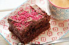 Langpannekake med sjokoladekrem
