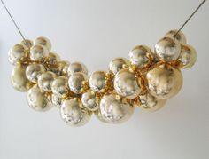 Glass-ball-ornament swag