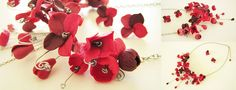 hydrangea flowers polymer clay necklace: http://agencyra.com/ogarlica-obici-ot-polimerna-glina-hortenzii-cherveno-p-802.html