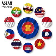 Flag Of ASEAN Association Of Southeast Asian Nations And Membership . Stock Vector - Illustration of brunei, asean: 89198957 All World Flags, Korea Map, Powerpoint Background Design, Community Logo, Vector Vector, Flag Logo, Cute Girl Face, National Flag, Doraemon