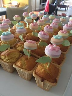 Flower Cupcakes! #Dextrose lollies from Look-O-Look
