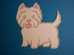 Free Svg file of Westie Dog but looks like my dog .... a Shorkie