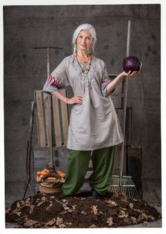 "Robe ""Herbarium"" en lin/coton–Jupes & robes–GUDRUN SJÖDÉN – Kläder Online & Postorder"