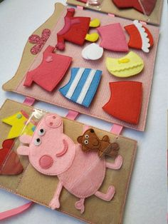 Quiet Book - Busy Book - Activity Book - First Book - Educational Games - Felt Quiet Book - Quiet Book Toddler - Quiet book pages - Felt ToyToddler quiet book page with rainbow, Baby Quiet Book boy, Personalized Felt Learning Book, Quiet book pages, Monte Toys For Girls, Gifts For Girls, Baby Girls, Girl Toys, Peppa Pig Dress, Peppa Pig Clothes, Peppa Pig Teddy, Felt Crafts, Crafts For Kids