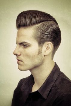 Long trim pompadour What about this with a more feminine sideburn?