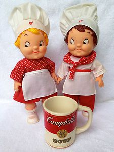 Vintage Campbell's Kids Dolls and China Soup Mug RARE and Chef Clothes | eBay
