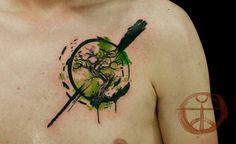 Tree of Life watercolor tattoo by Koray Karagözler ... LOVE
