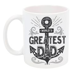 Amazon.com: High Tide Mugs World's Greatest Dad Father's Day Coffee Mug Gift Ceramic Coffee Cup Gift Ideas for Dad Under 25, 11 oz: Kitchen & Dining