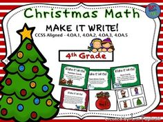 CCSS Aligned - 4.OA.A.2, 4.OA.A.3  Fourth Graders write there own word problems.They draw a number, a noun, and an operation from Santa's bag. Each of these must be used in writing a multi-step word problem.