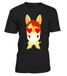 Horse Emoji Heart & Love Eye Shirt T-Shirt Tee