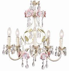 Flower Garden 5-Light Crystal Chandelier
