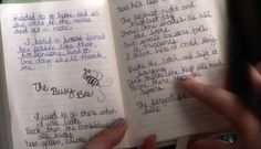 "#PLL Alison's journal. ""The Busy Bee"" in case anyone missed it in Season 4 Ep.15  Click the picture to follow the link and read the text, and to see some pretty awesome #theories"