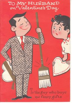 Vintage Valentine - Mid-Century husband and wife