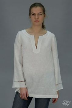 5cb342151f3 Linen White Tunic Longsleeved / Linen Blouse Drawnwork on Sleeves/ Linen  Blouse White/ Linen Tank/ Organic Tunic/ Flax Tunic