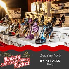 Get beautiful new shoes by Alvares - Italy LimburgSalsaFestival.com #10LSBKF #LSF #LSBKF #SalsaBrisa #Maastricht #Alwaysfun #Nonstopdancing #nonstopfun